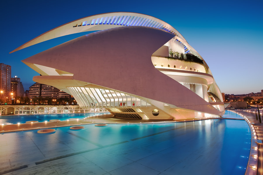 Photograph The Valencia Opera House (Queen Sofia Palace of the Arts) - Spain by Eric Rousset on 500px