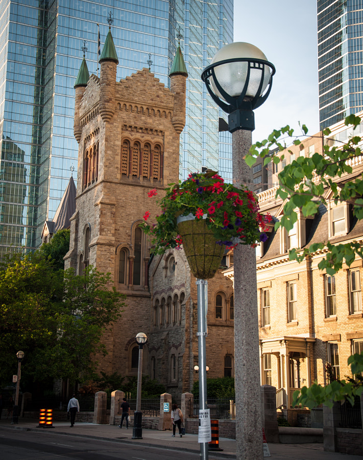 A classic blend of old and new runs throughout Toronto's downtown area. Shown here, St. Andrew's.