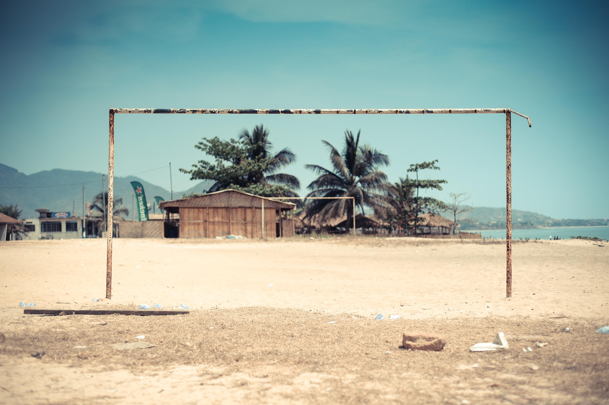 Photograph Goal Posts in Freetown  by Daniel Lewis on 500px