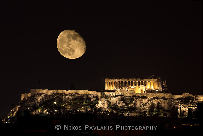 Photograph Parthenon and moo by Nikos Pavlakis on 500px