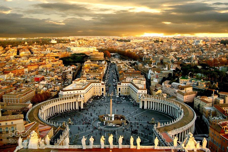 PLAZA DE SAN PEDRO  (Roma) by Adela Leon Besonias (FOTOGRAFIASLeonBesonias) on 500px.com