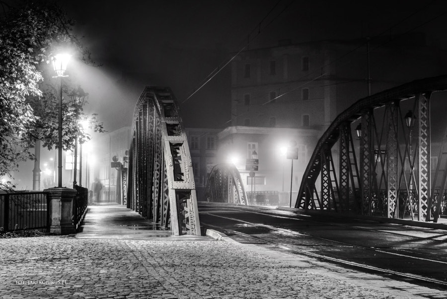Old bridge in mist