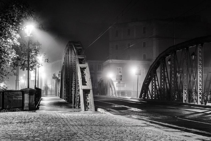Old bridge in mist