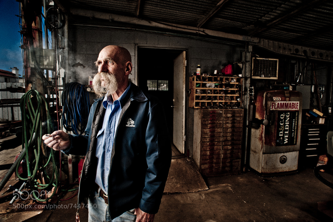 Photograph Chuck The Welder by Rob Hammer on 500px