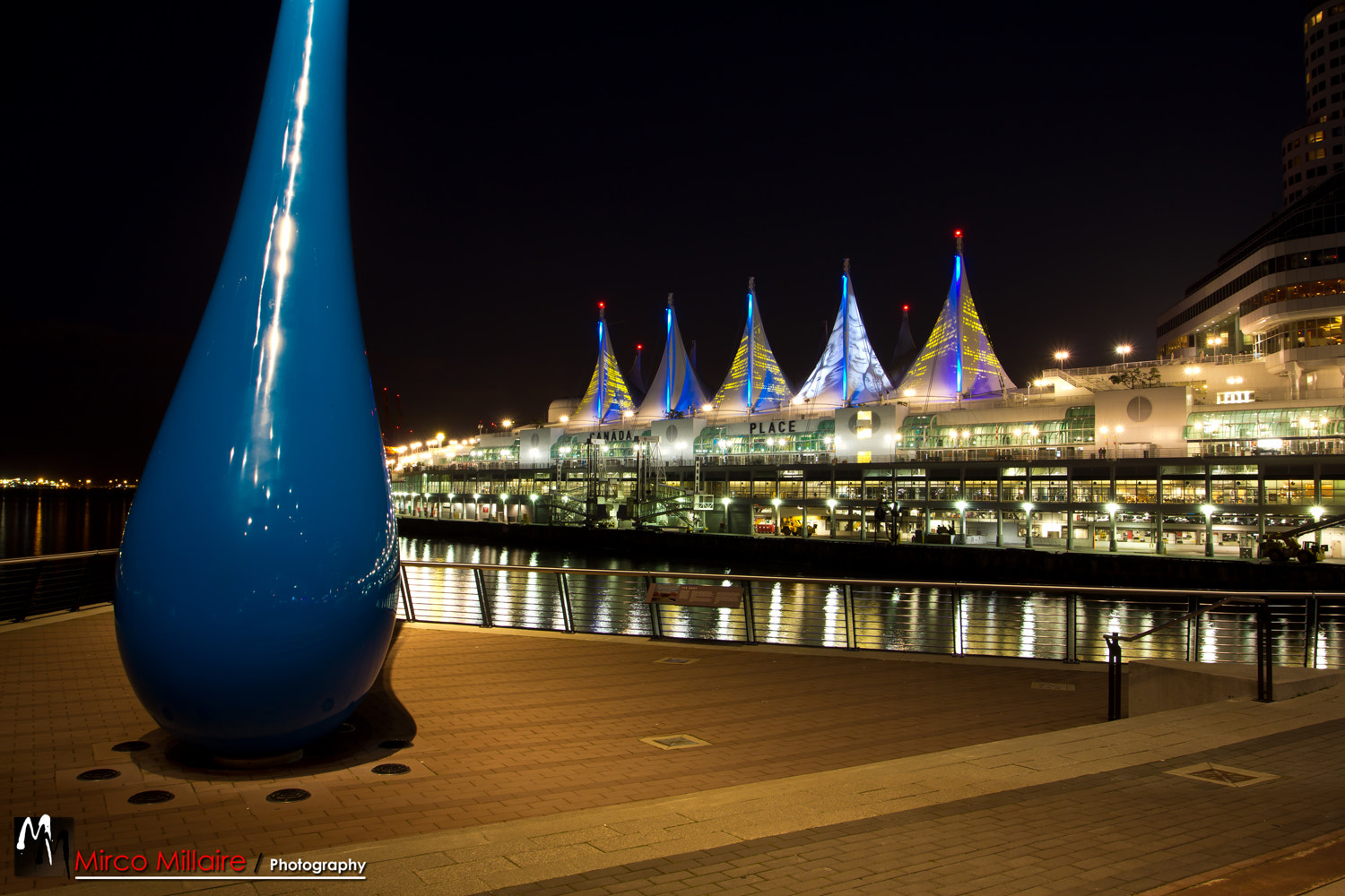 Photograph Canada Place Blue Drop by Mirco Millaire on 500px