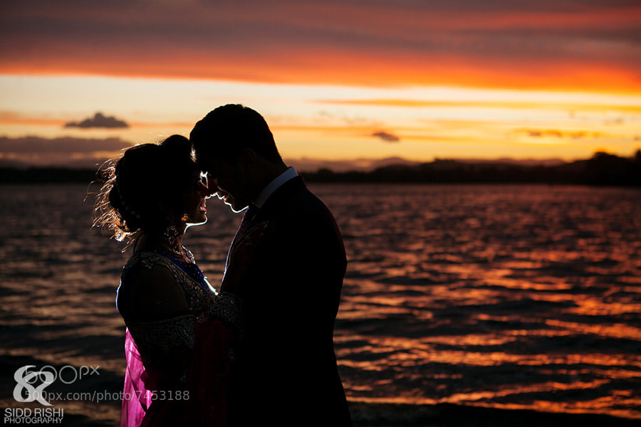Photograph Wedding Couple during sunset by Sidd Rishi on 500px