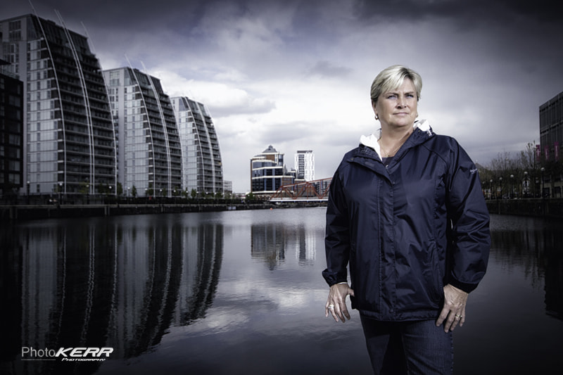Photograph Linda, Salford Quays by Lee Kerr on 500px