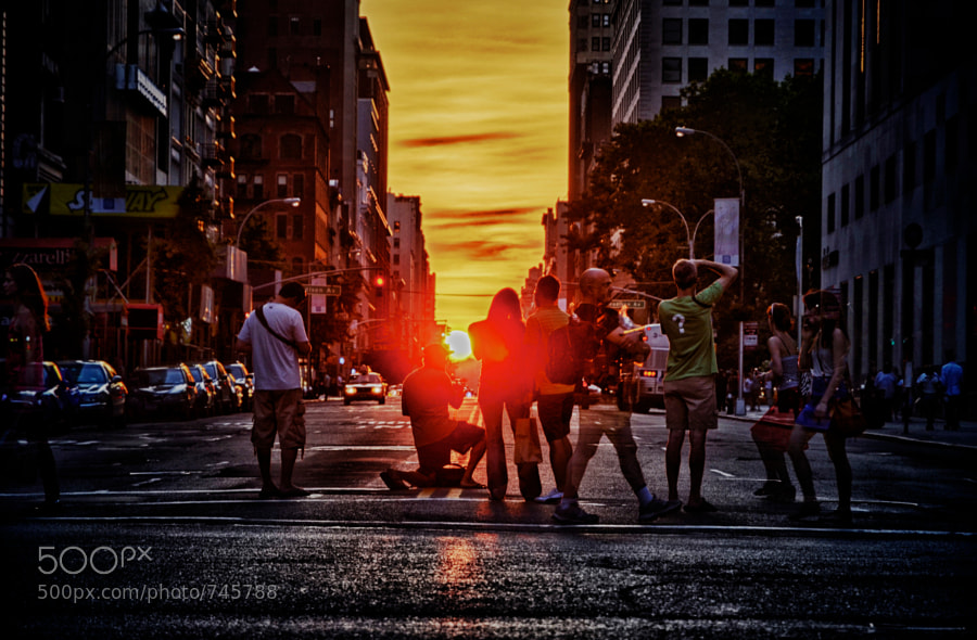 Photograph Manhattanhenge Group by Tim Burke on 500px