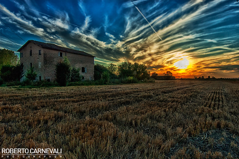 Photograph Sunset at countryside by Roberto Carnevali on 500px
