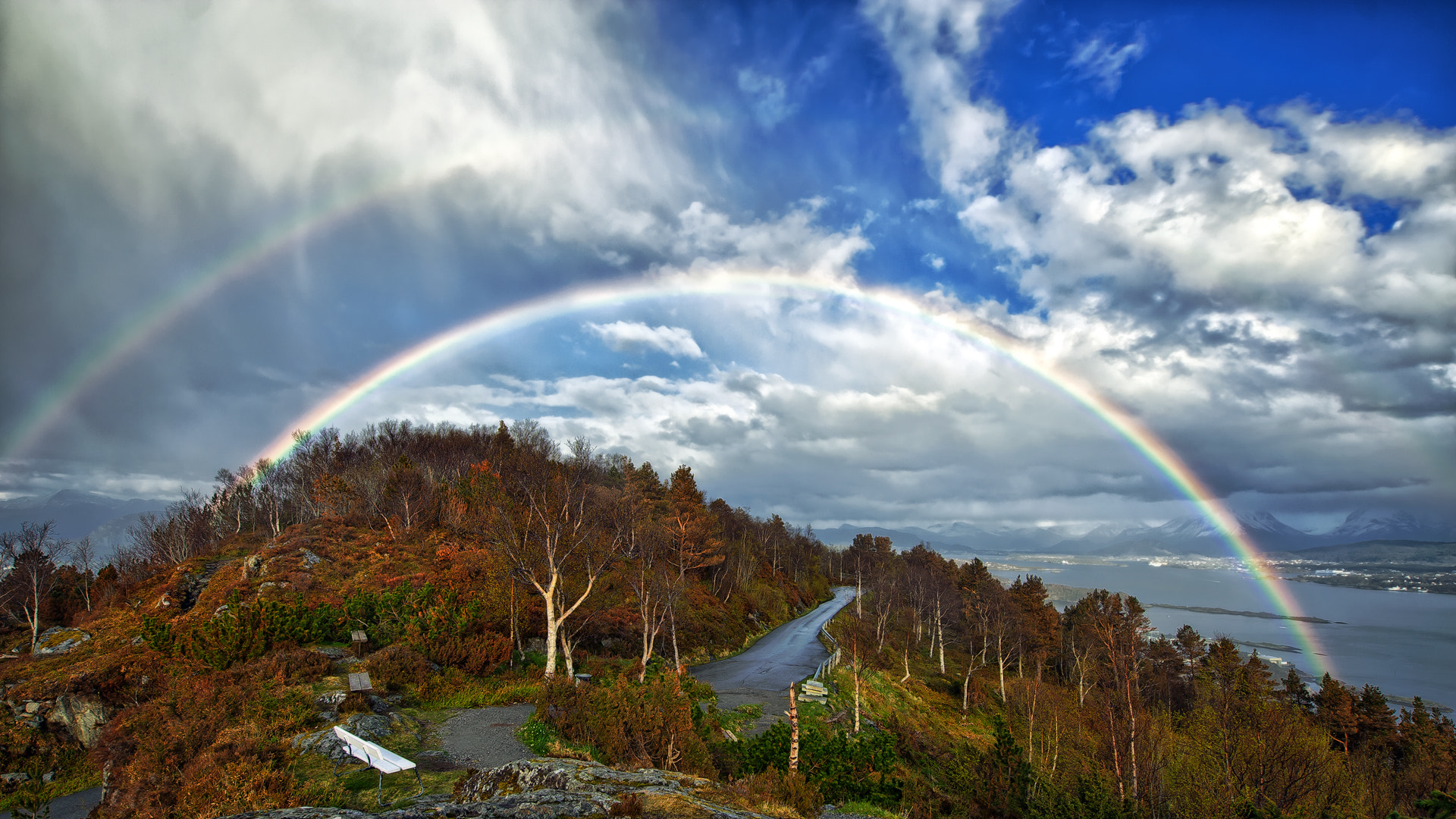 Photograph Double Rainbow by Stian Rekdal on 500px