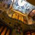 Casa Batlló central light well from below, Barcelona, Spain.