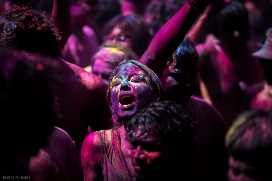 Holi Festival Girl by Ron Kimhi on 500px.com