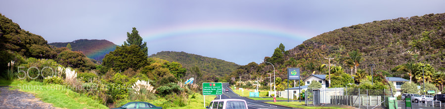 A rainbow in NZ by Stefan Steinbauer (usinglight) on 500px.com