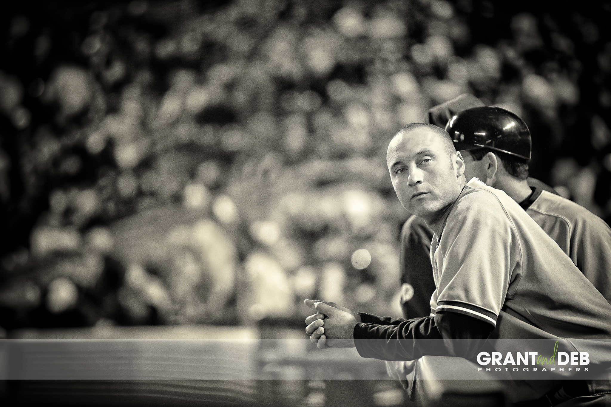 Photograph Derek Jeter looking on between batters by Grant Perry on 500px