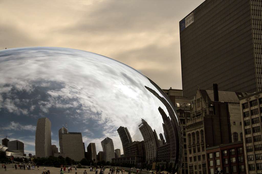 Photograph Cloud Gate Reflections by Dennis Rogers on 500px