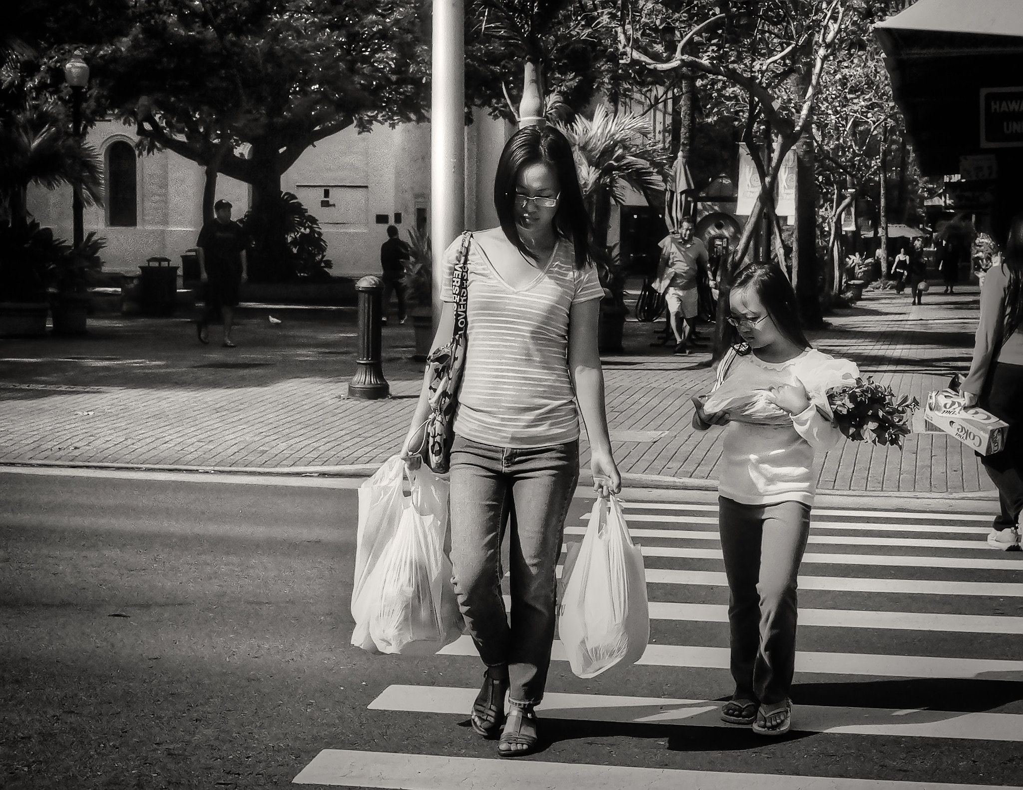 Photograph Mother and Daughter - Crosswalk by Virgil Gabriel on 500px