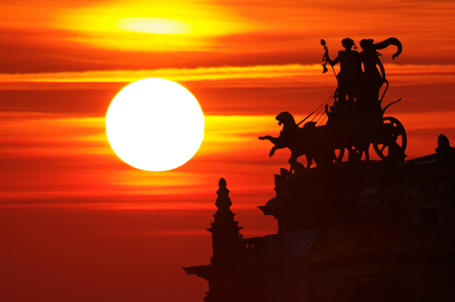 Sunset in Dresden by Jose Antonio Montoya on 500px.com