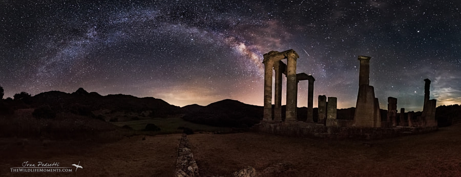 Photograph Temple milky way and meteor by Ivan Pedretti  on 500px