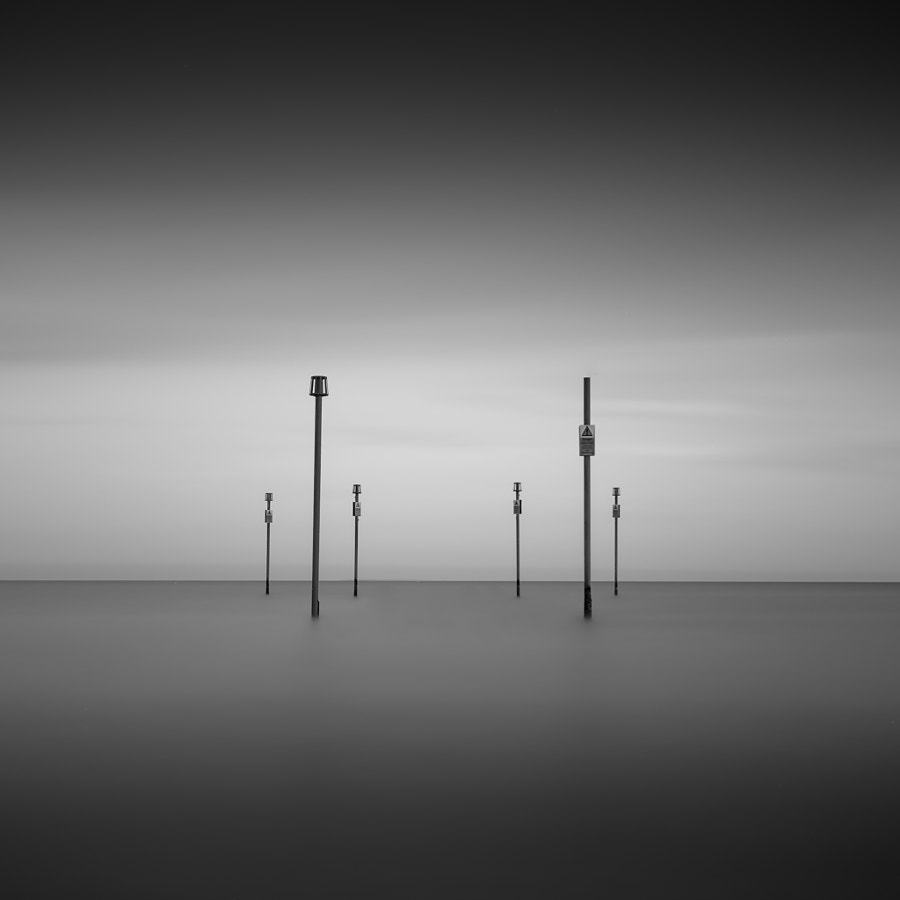 minimal long exposure seascape