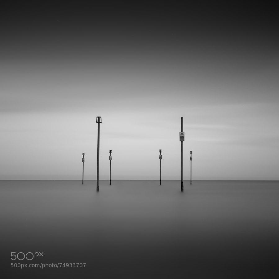 minimal long exposure seascape