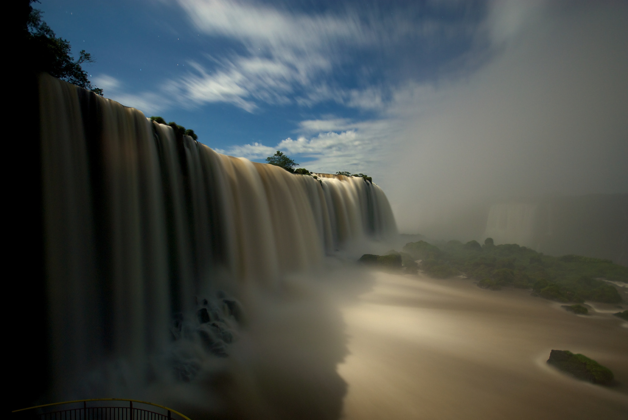 Photograph Iguazú waterfalls during full moon by Remco Douma on 500px