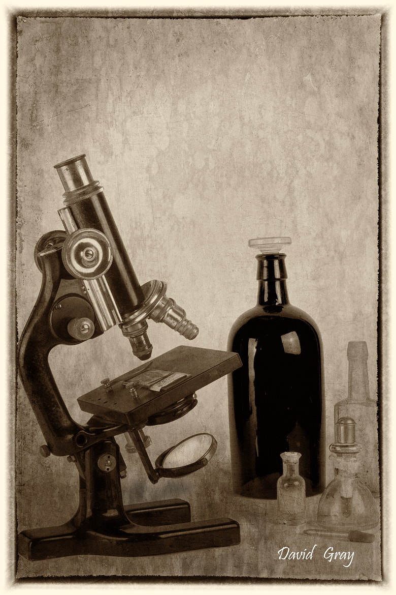 Photograph Dad's  Microscope by David Gray on 500px