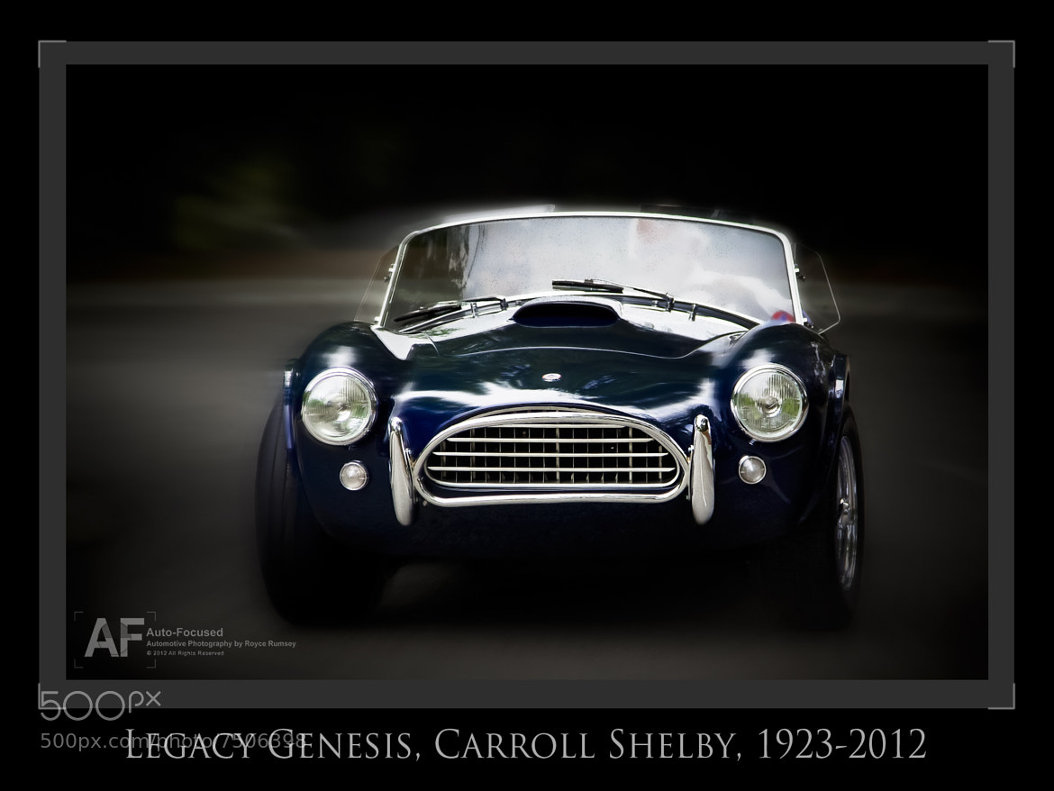 Photograph Alpha and Omega. Carroll Shelby, 1923-2012 by Royce Rumsey on 500px