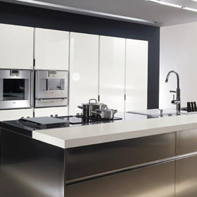 Italian Stainless Steel Kitchen Cupboards Cabinet Design Modern Steel Kitchen 550392