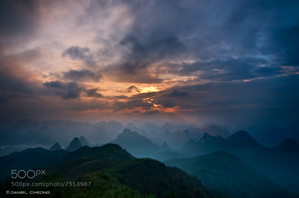 Photograph The Karst Mountains by Daniel Cheong on 500px