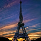 Постер, плакат: Eiffel Tower Sunset
