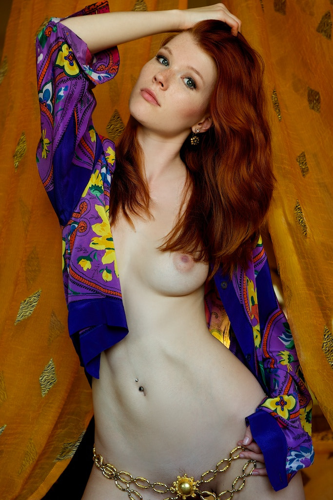 Photograph Mia in polychrome shirt#1a by giorgio vitali on 500px