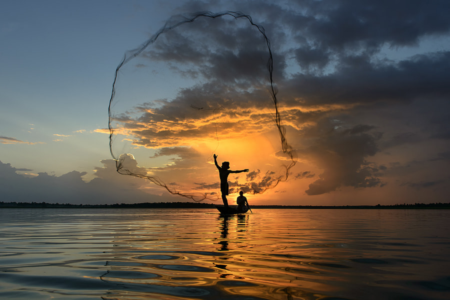 Photograph Nets in sunset by Saravut Whanset on 500px