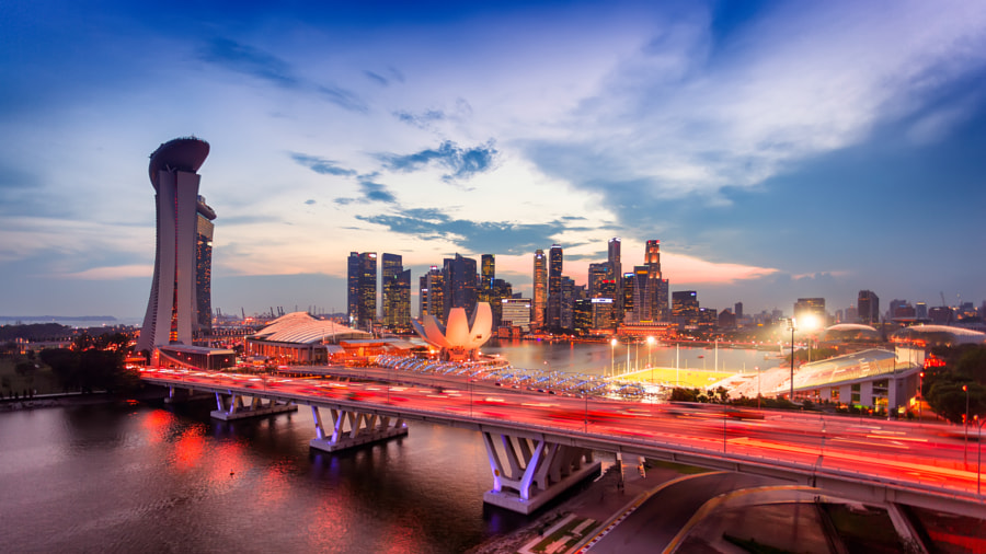 Singapore from the Singapore Flyer by Debashis Talukdar on 500px.com