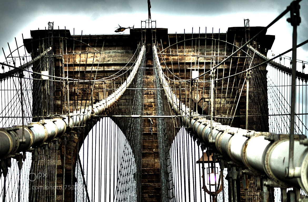 Photograph The bridge and the helicopter by Giacomo Signorino on 500px