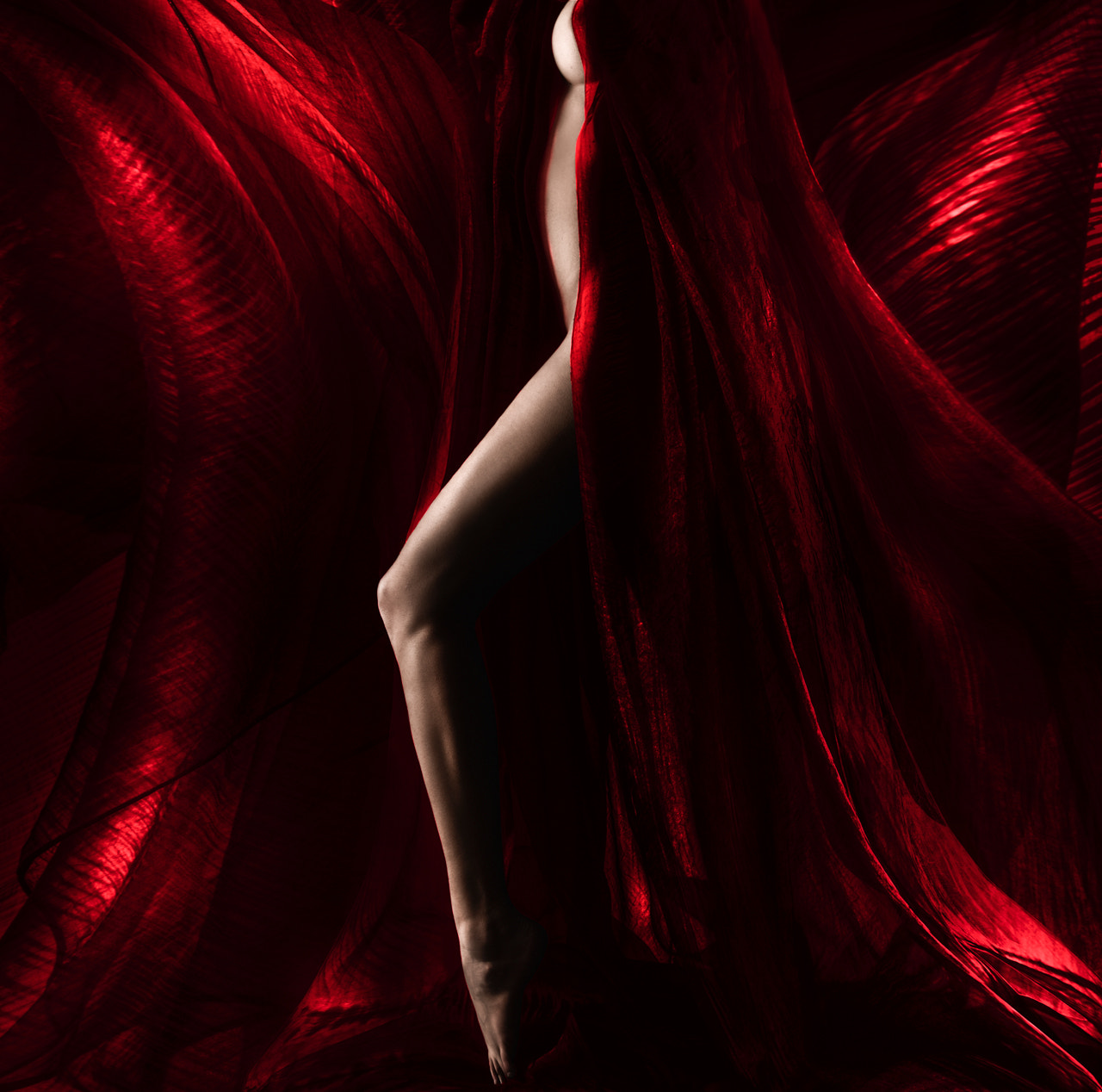 Photograph red curtain by Patrick Odorizzi on 500px