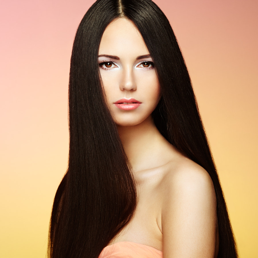 Beautiful brunette woman with long hair by Oleg Gekman on 500px.com