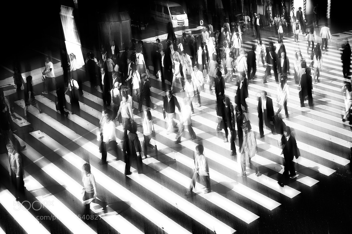 Photograph congested pedestrian crossing by Mitsuru Moriguchi on 500px