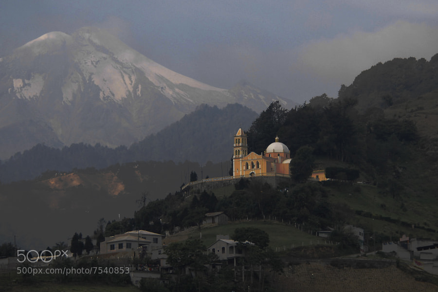 Photograph Volcano,  church and mountain by Alfredo Garciaferro Macchia on 500px