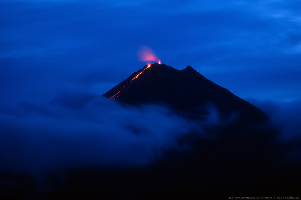 Photograph Night Eruption by Mark Vincent Müller on 500px