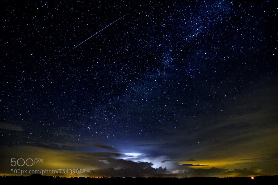 Photograph Shooting Lightning Star by Joshua Stephen on 500px
