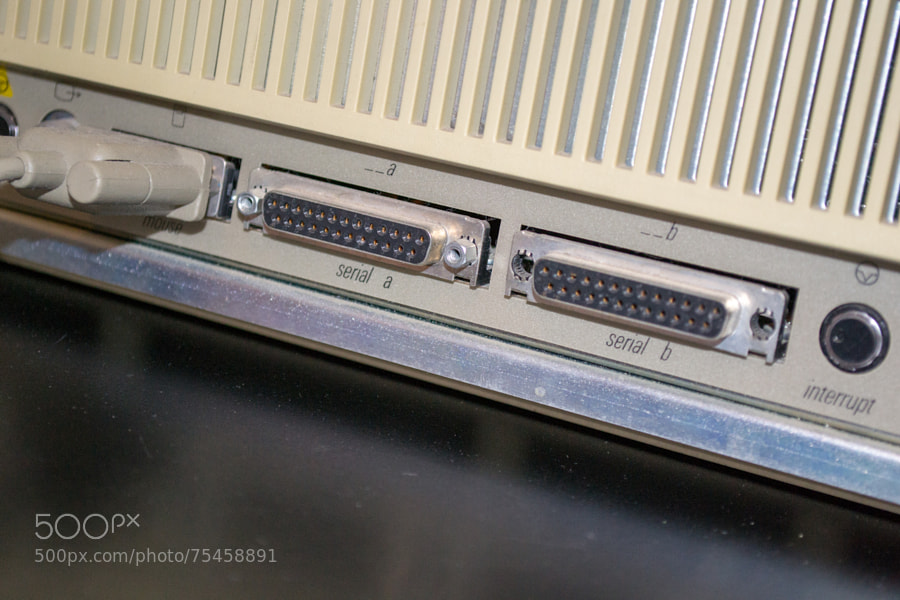 Photograph Apple Mac XL - rear ports by Mike Maginnis on 500px