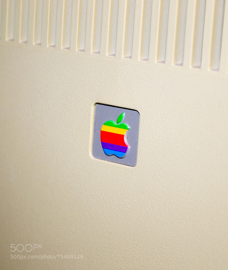 Photograph Apple Mac XL - rear logo badge by Mike Maginnis on 500px