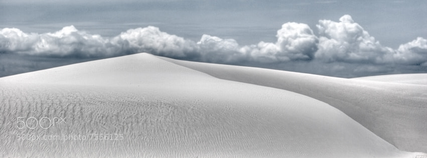 Photograph White Sands, Low Clouds by Ken Ford on 500px