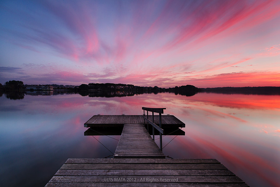Photograph Sunset at the lake by Luis Mata on 500px