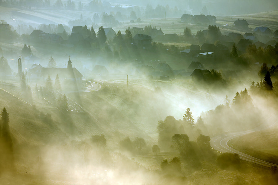 Photograph Village at sunrise by Marcin Sobas on 500px