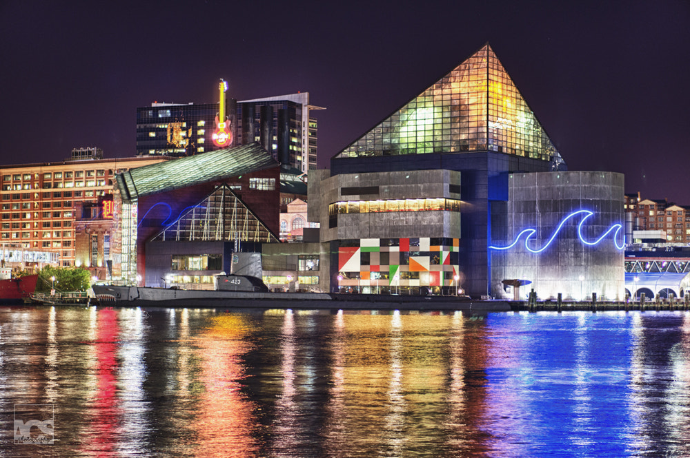 Photograph Baltimore's Aquarium by Night by Aaron Stanley on 500px