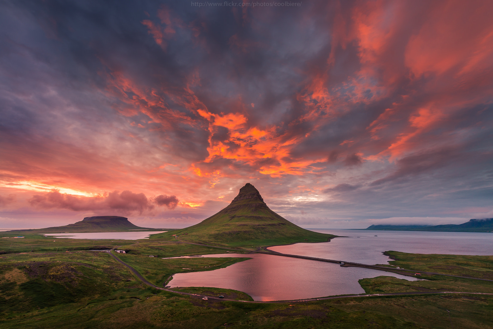 Photograph Kirkjufell Midnight sun by Coolbiere. A. on 500px