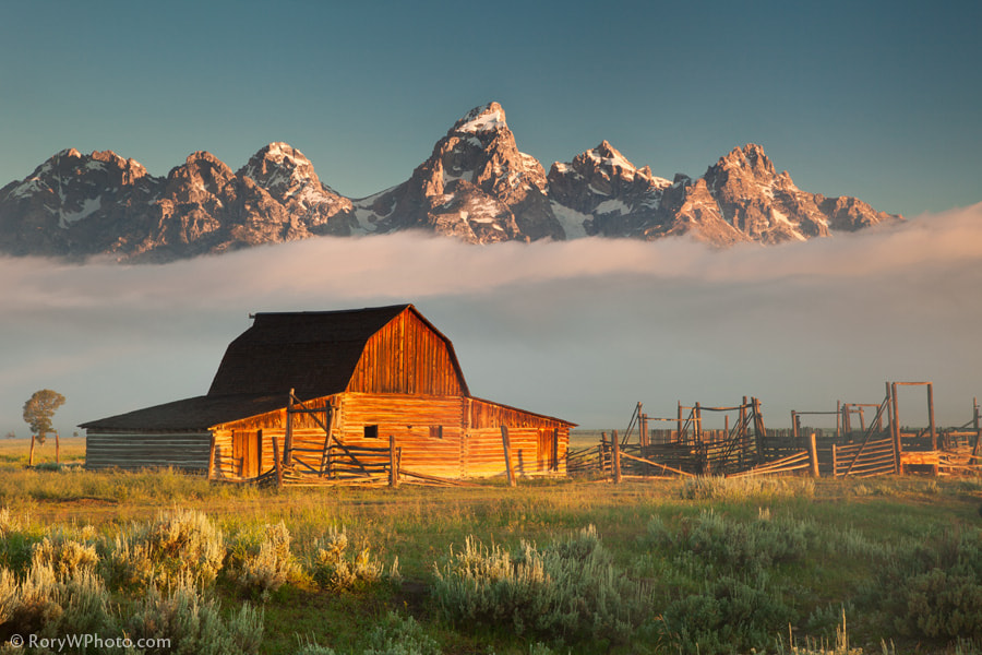 Photograph Moulton Barn and Tetons by Rory Wallwork on 500px