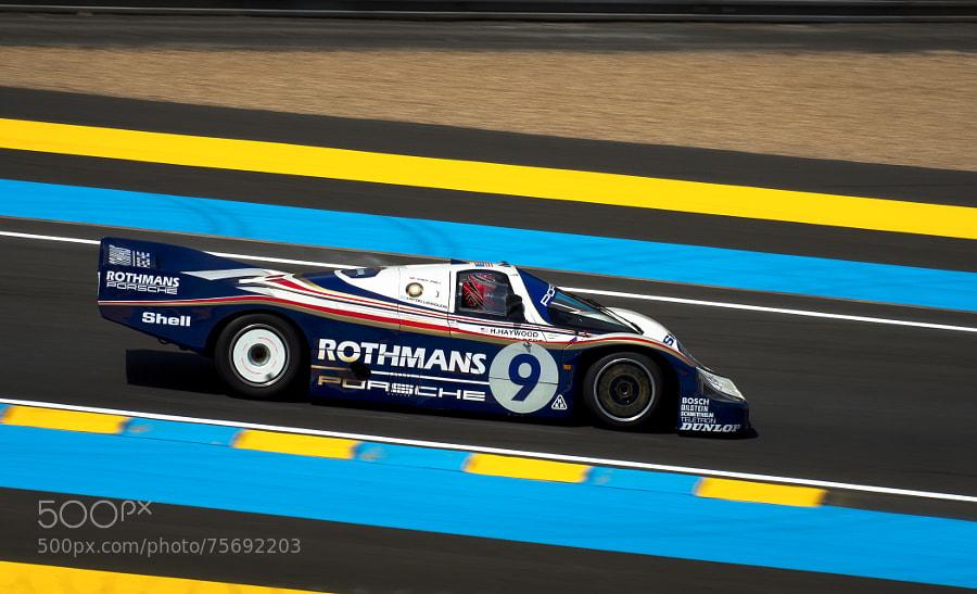 Photograph 24H00 du Mans - Porsche Rothmans 962 by Cyril Fontaine on 500px