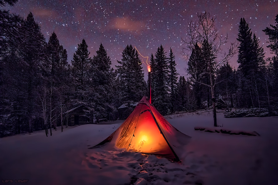 Photograph Winter Camping by Lars Leber on 500px
